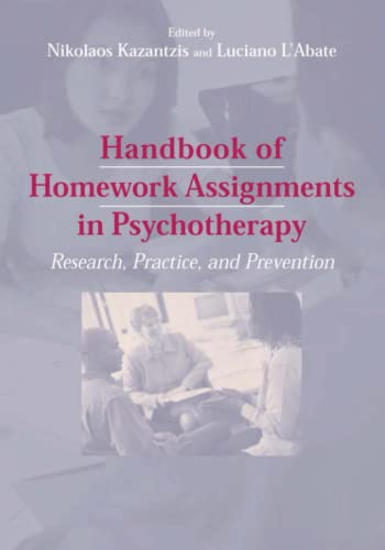 9781441939951: Handbook of Homework Assignments in Psychotherapy: Research, Practice, and Prevention