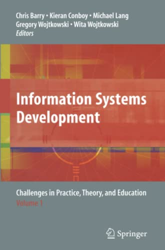 Information Systems Development: Challenges in Practice, Theory, and Education Volume 1: Springer