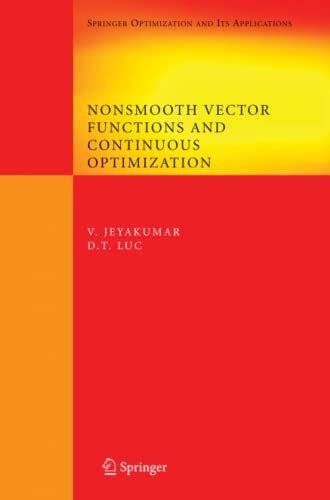 9781441944726: Nonsmooth Vector Functions and Continuous Optimization (Springer Optimization and Its Applications)