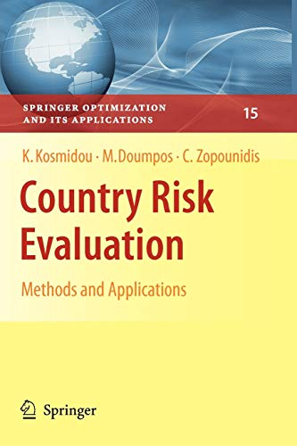 9781441945723: Country Risk Evaluation: Methods and Applications (Springer Optimization and Its Applications)