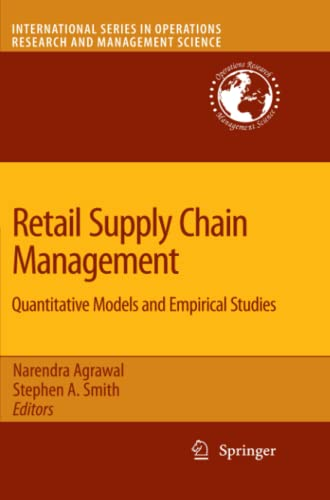 9781441946270: Retail Supply Chain Management: Quantitative Models and Empirical Studies