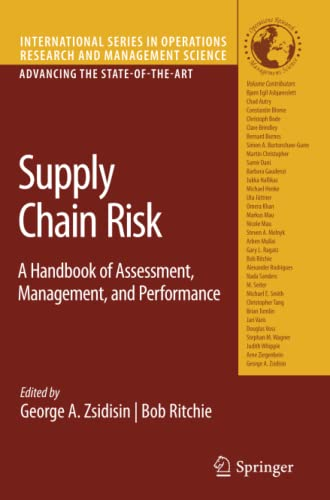 9781441946454: Supply Chain Risk: A Handbook of Assessment, Management, and Performance