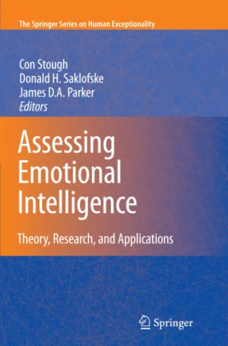9781441946928: Assessing Emotional Intelligence: Theory, Research, and Applications (The Springer Series on Human Exceptionality)