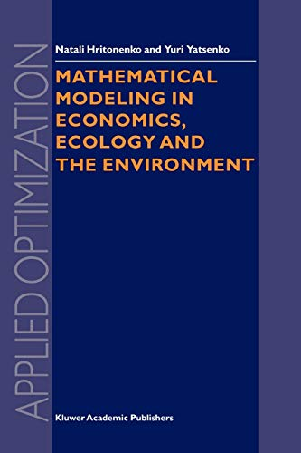 9781441948212: Mathematical Modeling in Economics, Ecology and the Environment (Applied Optimization)