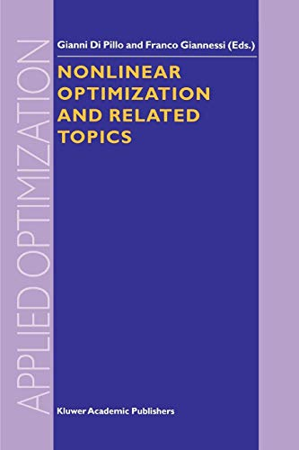 Nonlinear Optimization and Related Topics Applied Optimization