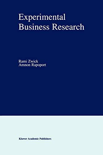 9781441949103: Experimental Business Research