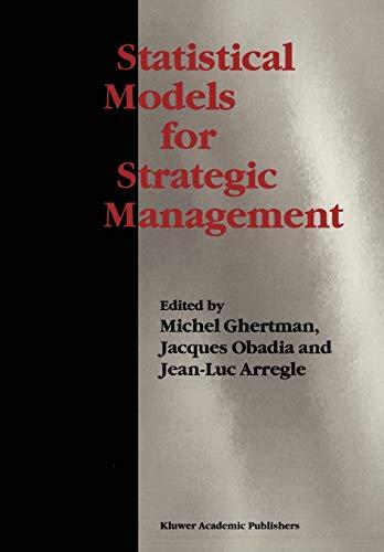 9781441951861: Statistical Models for Strategic Management
