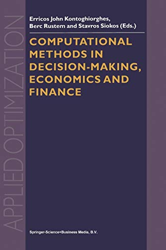 9781441952301: Computational Methods in Decision-Making, Economics and Finance (Applied Optimization)