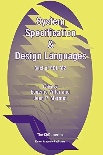 9781441953483: System Specification & Design Languages: Best of FDL'02 (Chdl)