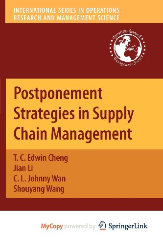 9781441958471: Postponement Strategies in Supply Chain Management