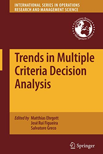 Trends in Multiple Criteria Decision Analysis International Series in Operations Research ...