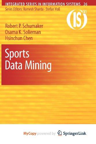 9781441967312: Sports Data Mining