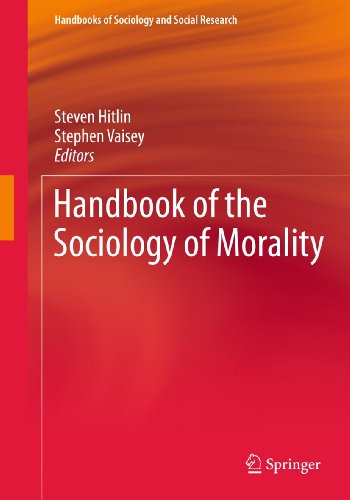 9781441968944: Handbook of the Sociology of Morality (Handbooks of Sociology and Social Research)