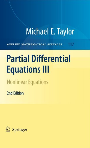 9781441970480: Partial Differential Equations III: Nonlinear Equations (Applied Mathematical Sciences)