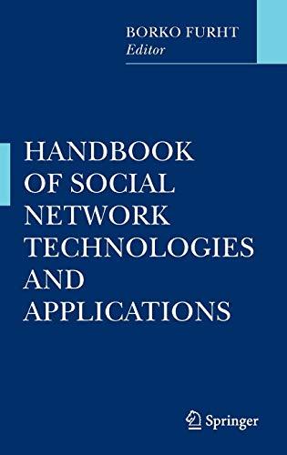 9781441971418: Handbook of Social Network Technologies and Applications