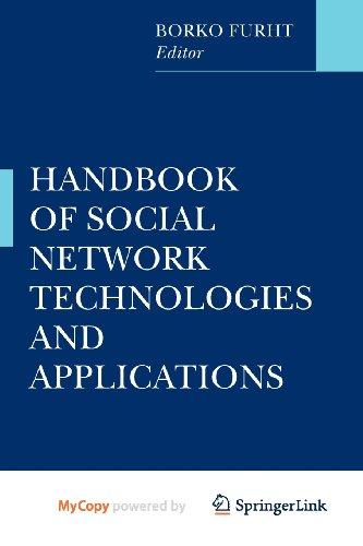 9781441971432: Handbook of Social Network Technologies and Applications