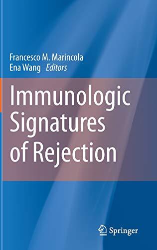 Immunologic Signatures of Rejection: Francesco M. Marincola