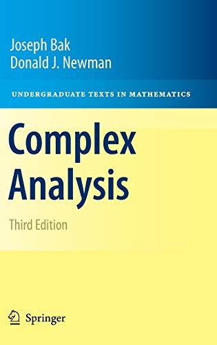9781441972873: Complex Analysis (Undergraduate Texts in Mathematics)