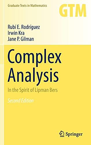 Complex Analysis: In the Spirit of Lipman: Rubi Rodriguez, Irwin