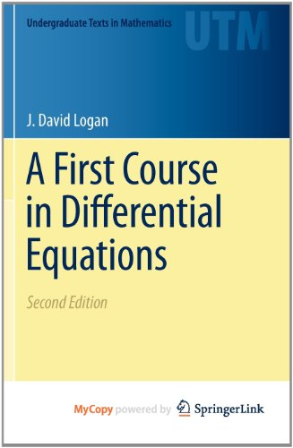 9781441975935: A First Course in Differential Equations