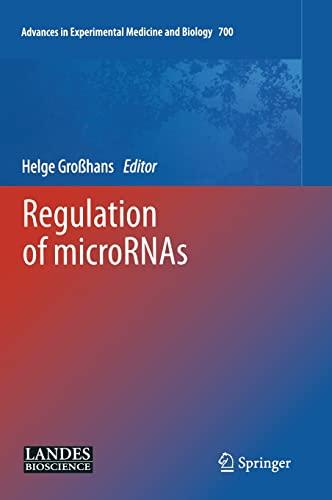 Regulation of Micrornas (Hardcover): Helge Grosshans