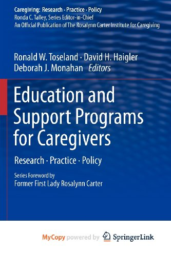9781441980328: Education and Support Programs for Caregivers: Research, Practice, Policy