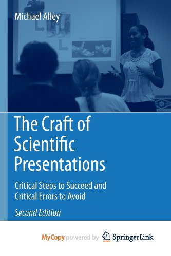 9781441982803: The Craft of Scientific Presentations: Critical Steps to Succeed and Critical Errors to Avoid