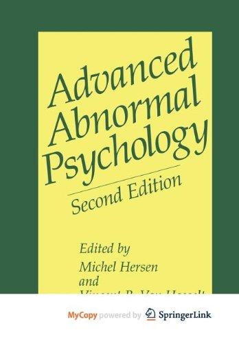 9781441984982: Advanced Abnormal Psychology