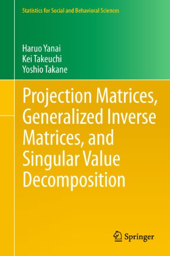 9781441998866: Projection Matrices, Generalized Inverse Matrices, and Singular Value Decomposition (Statistics for Social and Behavioral Sciences)