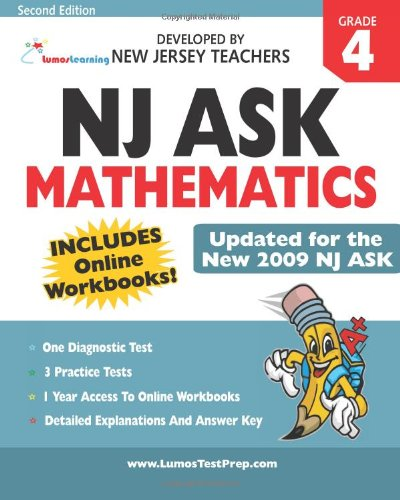 9781442117488: NJ ASK Practice Tests and Online Workbooks: Mathematics Grade 4, Second Edition