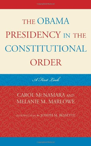 9781442205307: The Obama Presidency in the Constitutional Order: A First Look