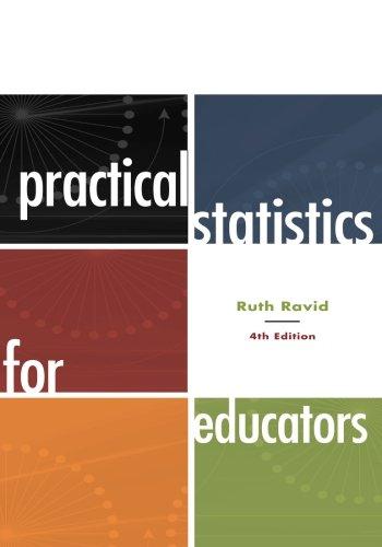 9781442206557: Practical Statistics for Educators, 4th Edition