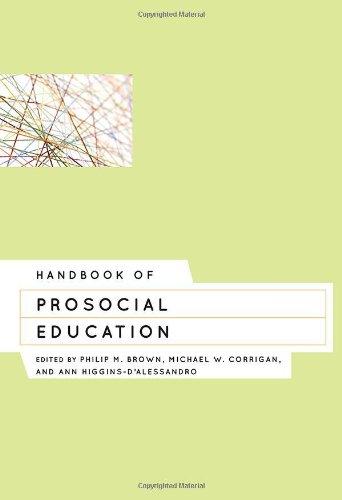 9781442211193: Handbook of Prosocial Education