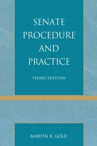 9781442224186: Senate Procedure and Practice