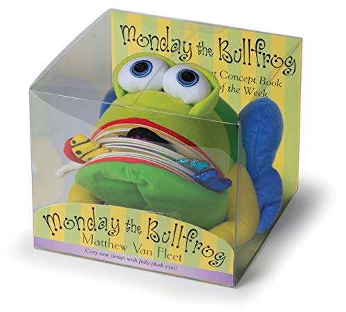 Monday the Bullfrog: A Huggable Puppet Concept Book about the Days of the Week [With Book(s)]: Van ...