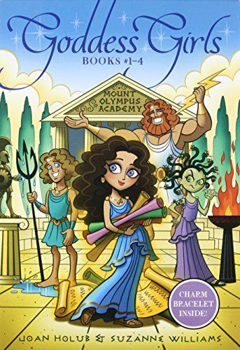 9781442482104: Goddess Girls Books #1-4 (Charm Bracelet Inside!): Athena the Brain; Persephone the Phony; Aphrodite the Beauty; Artemis the Brave
