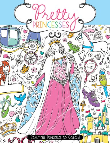 9781442483859: Pretty Princesses: Beautiful Princesses to Color!