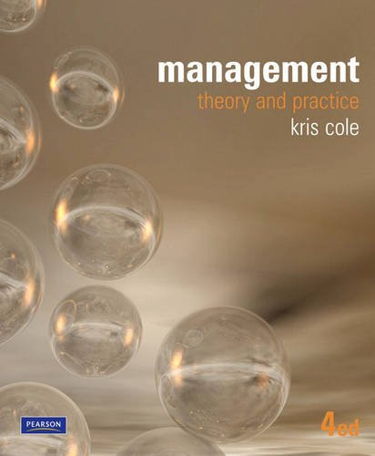 Management: Theory and Practice (1442503122) by Cole, Kris