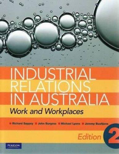 Industrial Relations in Australia (Paperback): Jeremy Buultjens