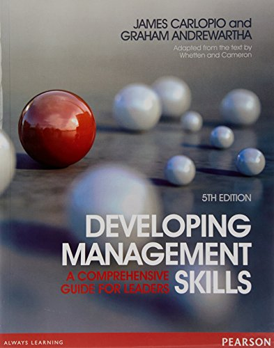 Developing Management Skills (Paperback): James Carlopio