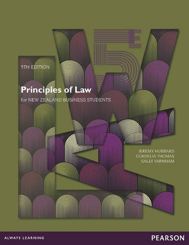 Principles of Law for New Zealand Business