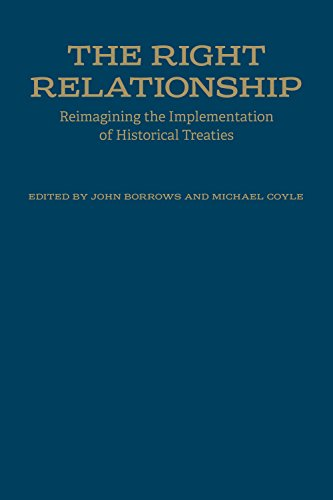 The Right Relationship: Reimagining the Implementation of: John Borrows and