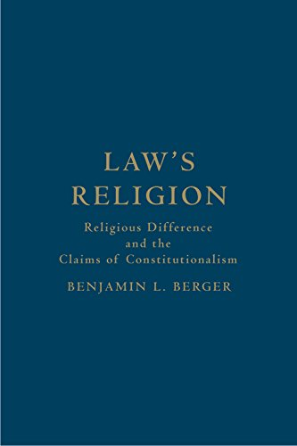 9781442643574: Law's Religion: Religious Difference and the Claims of Constitutionalism