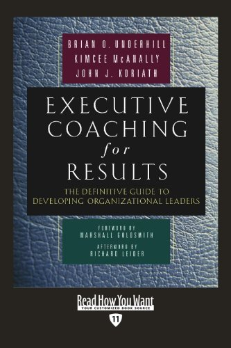 9781442953246: Executive Coaching For Results (Easyread Edition): The Definitive Guide to Developing Organizational Leaders