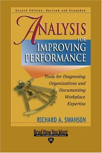 9781442953826: Analysis for Improving Performance (EasyRead Edition): Tools for Diagnosing Organizations and Documenting Workplace Expertise