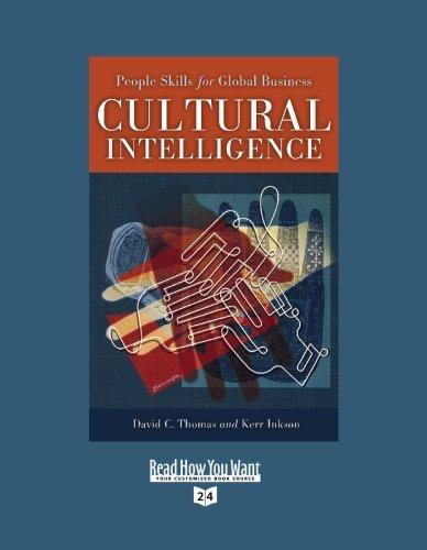 9781442953871: Cultural Intelligence (Volume 1 of 2) (EasyRead Super Large 24pt Edition): People Skills for Global Business