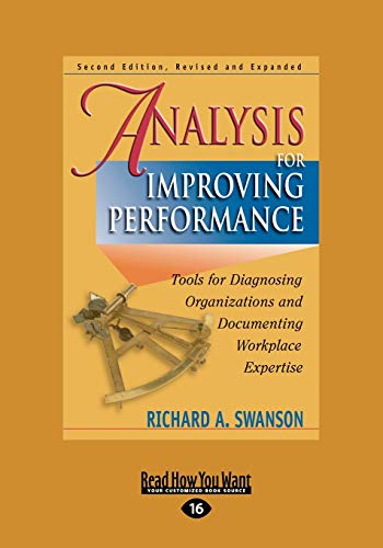 9781442955776: Analysis for Improving Performance: Tools for Diagnosing Organizations and Documenting Workplace Expertise