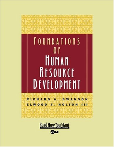 9781442961975: Foundations of Human Resource Development (Volume 1 of 3) (EasyRead Super Large 20pt Edition)