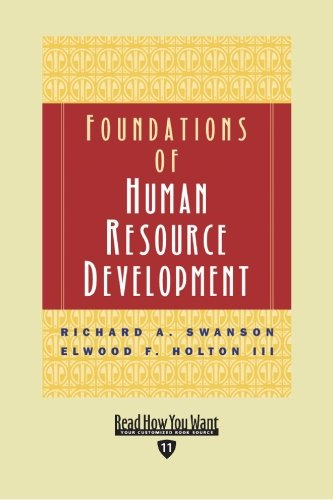 9781442962897: Foundations of Human Resource Development (Volume 1 of 2) (EasyRead Edition)