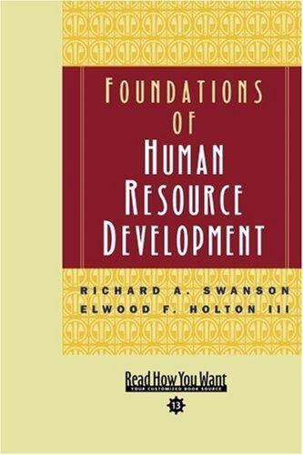 9781442962910: Foundations of Human Resource Development (Volume 2 of 2) (EasyRead Comfort Edition)